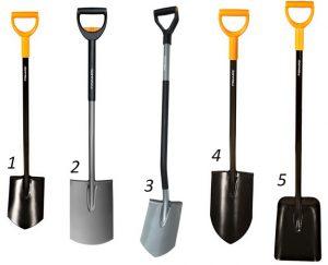 прави лопати - основни модели FISKARS