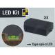 Аксесоар за нивелир, тип 196-2-LED, резервен комплект с батерии, 17450, STABILA