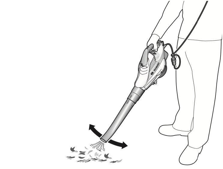 Градински листосъбирачи (духалки) - употеба