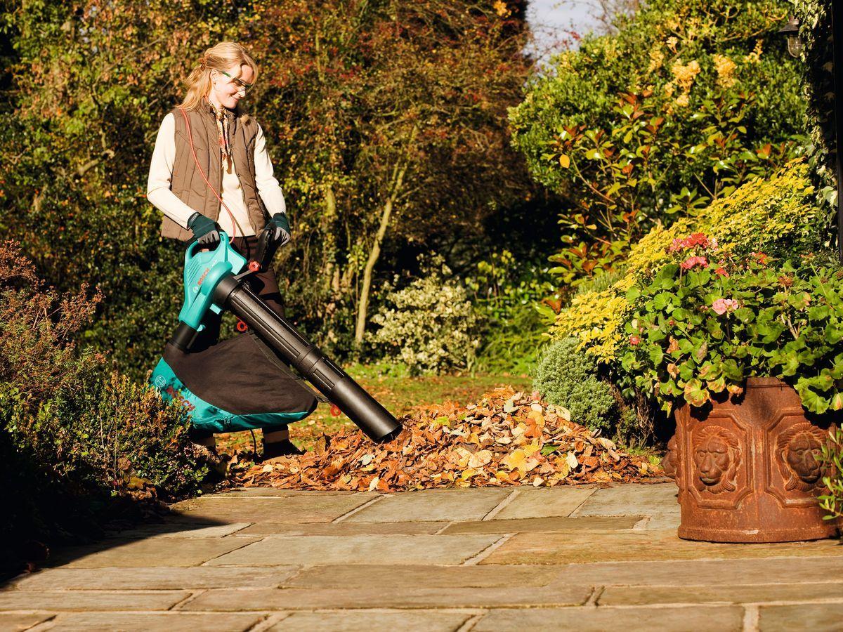 Градински листосъбирач (духалка) използване