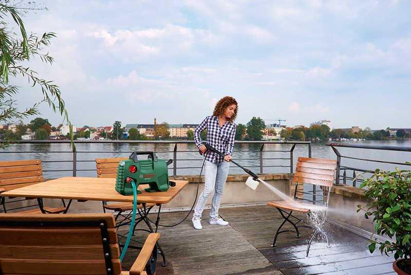 измиване на тераси с водоструйки
